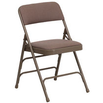 Advantage Beige Padded Folding Chair - Beige 1-in Fabric Seat [HA-MC309AF-BGE-GG]