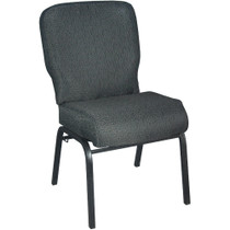 Advantage Signature Elite Patterned Black Church Chair [PCRCB-121] - 20 in. Wide