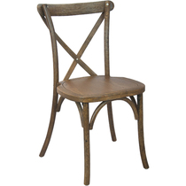Advantage Hand Scraped Dark Natural X-Back Chair [X-back-DNAT]