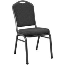 Advantage Premium Patterned Black Crown Back Banquet Chair [CBMW-221]