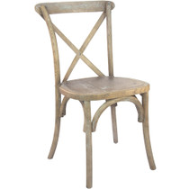 Advantage Medium Natural With White Grain X-Back Chair [X-back-MOWG]