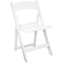 Advantage White Resin Folding Chairs With Slatted Seat [LE-L-1-WH-SLAT-GG]