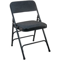 Advantage Black Padded Folding Chair - Black 1-in Fabric Seat [DPI903F-BlkBlk]