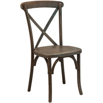 Advantage Dark Driftwood X-Back Chair [X-back-BURDRIFT]