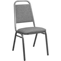 Advantage Charcoal Gray Fabric-Padded Banquet Stackable Chairs [827FABRIC-BCG-SB]