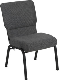 Advantage 20.5 in. Black Marble Molded Foam Church Chair [PCCF-117]
