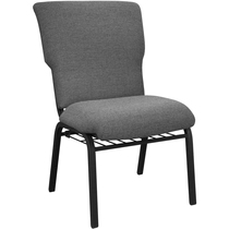 Advantage Black Marble Discount Church Chair - 21 in. Wide [EPCHT-117]
