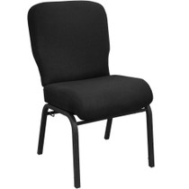 Advantage Signature Elite Black Church Chair [PCRCB-108] - 20 in. Wide