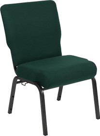 Advantage 20.5 in. Hunter Green Molded Foam Church Chair [PCCF-102]