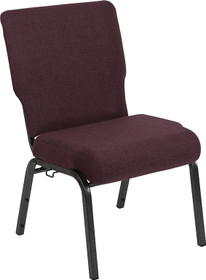 Advantage 20.5 in. Grape/Amethyst Molded Foam Church Chair [PCCF-103]