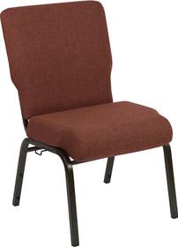 Advantage 20.5 in. Cinnamon Molded Foam Church Chair [PCCF-107]