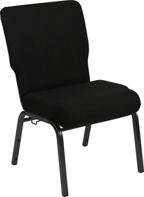 Advantage 20.5 in. Black Molded Foam Church Chair [PCCF-108]