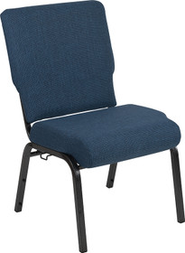 Advantage 20.5 in. Blue Basket Weave Molded Foam Church Chair [PCCF-109]