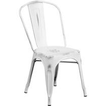 Advantage Distressed White Tolix Chair [ET-3534-WH-GG]