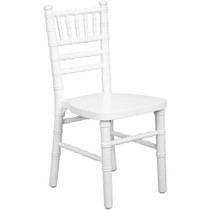 Advantage Kids White Wood Chiavari Chair [KID-WDCHI-White]