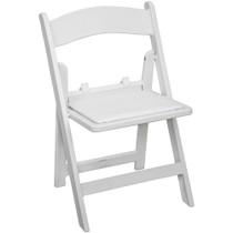 Advantage Kids White Resin Folding Chair [RFWCA-KID-100]