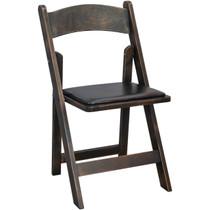 Advantage Wood Folding Wedding Chair - Antique Black [WFC-AB]