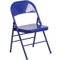 Advantage Blue Metal Folding Chair [HF3-BLUE-GG]