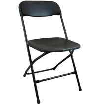 Advantage Black Poly Folding Chair - Dining Height [LE-L-3-BK-GG]