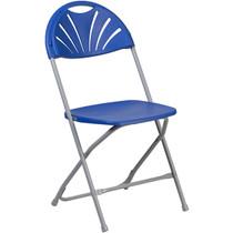Advantage Blue Fan Back Plastic Folding Chair [LE-L-4-BL-GG]