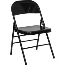 Advantage Black Metal Folding Chair [HF3-MC-309AS-BK-GG]