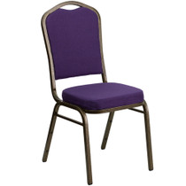 Advantage Purple Crown Back Banquet Chair [FD-C01-PUR-GV-GG ]