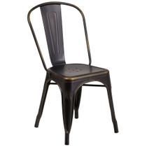 Advantage Distressed Copper Metal Indoor-Outdoor Tolix Chair [ET-3534-COP-GG]