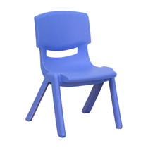 Advantage Blue Plastic Stackable School Chair with 10.5'' Seat Height [YU-YCX-003-BLUE-GG]
