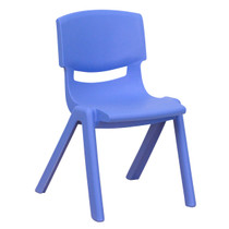 Advantage Blue Plastic Stackable School Chair with 12'' Seat Height [YU-YCX-001-BLUE-GG]