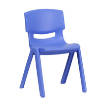 Advantage Blue Plastic Stackable School Chair with 13.25'' Seat Height [YU-YCX-004-BLUE-GG]