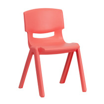 Advantage Red Plastic Stackable School Chair with 13.25'' Seat Height [YU-YCX-004-RED-GG]