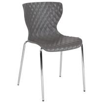 Advantage Lowell Contemporary Design Gray Plastic Stack Chair [LF-7-07C-GRY-GG]