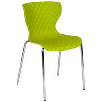 Advantage Lowell Contemporary Design Citrus Green Plastic Stack Chair [LF-7-07C-CGRN-GG]