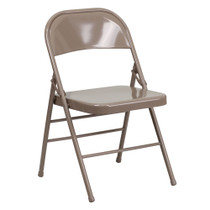 Advantage Beige Metal Folding Chair [HF3-MC-309AS-BGE-GG]