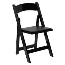 Advantage Wood Folding Wedding Chair - Black [XF-2902-BK-WOOD-GG]