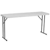 10-Pack Advantage 5 Ft. Granite White Plastic Folding Training Table [10-RB-1860-GG]