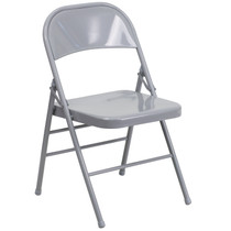 Advantage Gray Metal Folding Chair [HF3-MC-309AS-GY-GG]