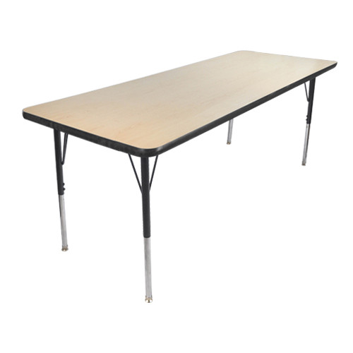 Advantage 24 in. x 48 in. Rectangular Adjustable Activity Table - Maple/Black [AT2448-MB]