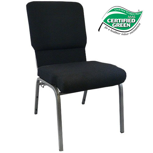 Advantage Black Church Chairs 18.5 in. Wide [PCHT185-108]