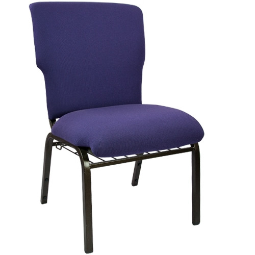 Advantage Eggplant Discount Church Chair - 21 in. Wide [EPCHT-115]