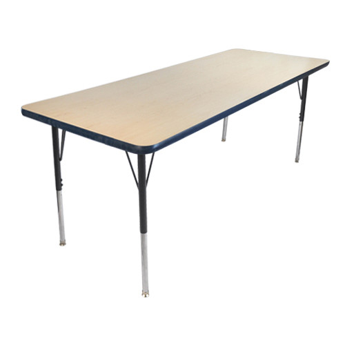 Advantage 24 in. x 48 in. Rectangular Adjustable Activity Table - Maple/Navy [AT2448-MN]