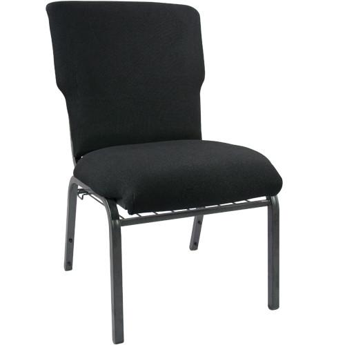 Advantage Black Discount Church Chair - 21 in. Wide [EPCHT-108]