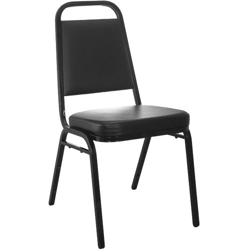 Advantage Black Vinyl-Padded Banquet Stackable Chairs [FD-BHF-1-GG]