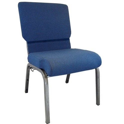 Advantage Navy Church Chair 20.5 in. Wide [PCHT-101]