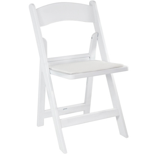 Advantage White Resin Folding Chairs [LE-L-1-WHITE-GG]