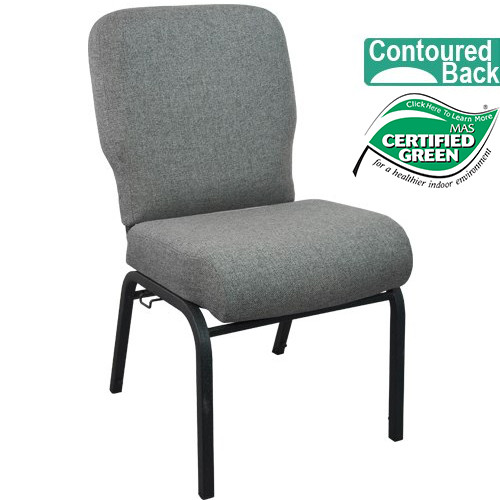Advantage Signature Elite Charcoal Gray Church Chair [PCRCB-111] - 20 in. Wide