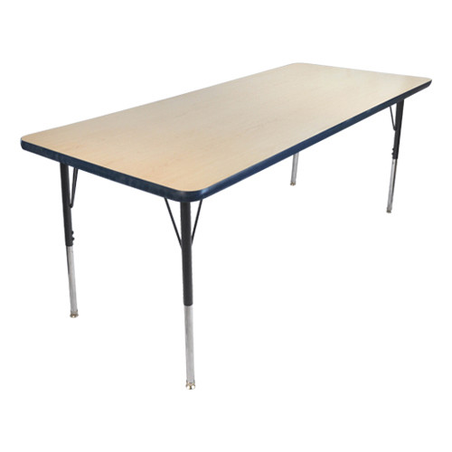 Advantage 30 in. x 48 in. Rectangular Adjustable Activity Table - Maple/Navy [AT3048-MN]