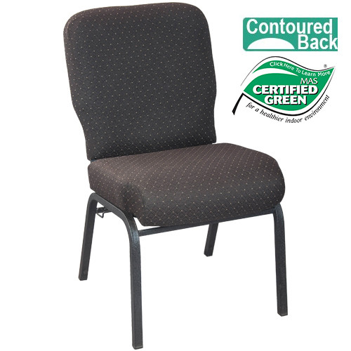 Advantage Signature Elite Walnut Church Chair [PCRCB-120] - 20 in. Wide