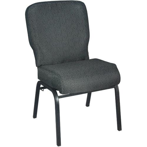 Advantage Signature Elite Patterned Black Church Chair [PCRCB-121] - 20 in. Wide