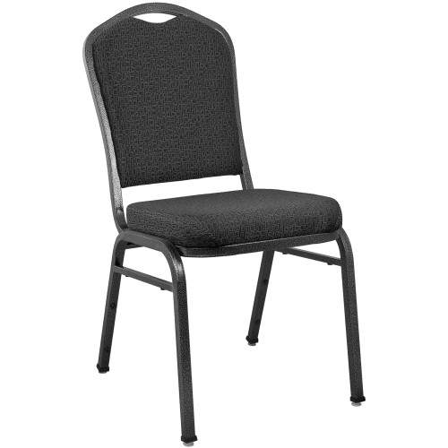 Advantage Premium Patterned Black Crown Back Banquet Chair [CBMW-221]